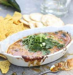 Classic Queso Fundido with Poblano, Chorizo and Tequila - Cooking for Keeps