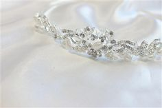 CAD$49.00 - A sparkly clear rhinestone crystal bridal tiara. It makes an elegant bridal halo, wreath or crown, with a silver wire band for styling convenience.  beautiful bridal Hair pieces, for amazing prices check out our website www.karmabridal.com