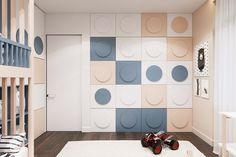 FAMILY APARTMENT IN KIEV on Behance Kids Bedroom Boys, Kids Bedroom Designs, Kids Room Design, Baby Boy Rooms, Bedroom Tv Cabinet, Tv In Bedroom, Single Bedroom, Creative Kids Rooms, Room Interior