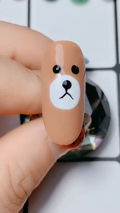 Dog pattern nail art video, Top Nail Art Designs & Ideas For A Cute Manicure - pusheen nails Animal Nail Designs, Animal Nail Art, Nail Art Designs Videos, Dot Nail Art, Nail Art Blog, Nail Art Videos, Glitter Nail Art, Easter Nail Art, Fall Nail Art