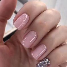 Blush Pink Nails, Pink Nail Colors, Pink Nail Art, Purple Nails, Green Nails, Art Nails, White Nails, Gel Nagel Design, Nagellack Trends