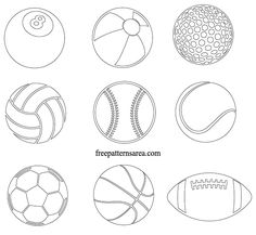 9 ball vector designs belonging to some sports games. Most of us are interested in different sports. So, sports are useful both for social improvement and body… Baseball Coloring Pages, Sports Coloring Pages, Animal Coloring Pages, Printable Coloring Pages, Coloring Pages For Kids, Free Coloring, Sports Templates, Templates Printable Free, Theme Sport