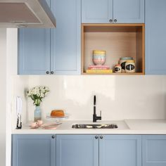 A Beast of a Kitchen Is Now a Blue Beauty – Best Home Decoration Kitchen On A Budget, Home Decor Kitchen, Interior Design Kitchen, Home Kitchens, Hub Home, Apartment Cleaning, Kitchen Upgrades, E Design, Decoration