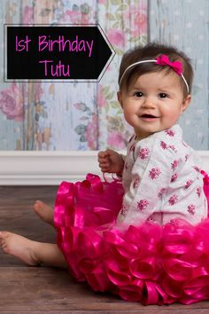 This cute  ribbon tutu skirt, would look so cute at a strawberry birthday party. A Fuchsia tutu dress would also nicely match a tropical first birthday. Hot Pink tutu skirt for little girls birthday photoshoot ideas. Just pair this tutu with a plain or birthday shirt for the perfect birthday outfit ideas for toddler girl. Click on this pin to shop for this tutu, each tutu is customizable and comes in size newborn to size 12. VanahLynn.com  Visit our blog to see other party ideas for toddlers. Unique Birthday Party Ideas, Pink And Gold Birthday Party, 1st Birthday Party For Girls, Kids Party Themes, Little Girl Birthday, Birthday Tutu, Unicorn Birthday Parties, Birthday Party Themes, Garden Birthday