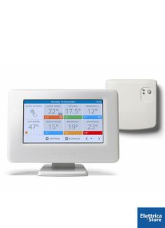 Shop for Honeywell Evohome Wifi Connected Thermostat Pack, 230 V, White. Starting from Choose from the 2 best options & compare live & historic security electronic prices. Home Thermostat, Green News, Wifi Connect, Radiator Valves, Water Storage, Works With Alexa, Central Heating, Power Led, Small Office