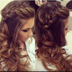 We love this half updo....its all about the braid