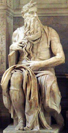 Michelangelo: Moisés, 1513–1515. Igreja de São Pedro Acorrentado, Roma.