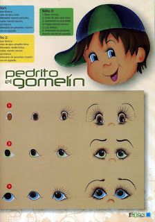 Modelos de ojos chico - How to paint the foamy EYES people?