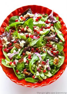 Pomegranate Feta Salad - The Girl Who Ate Everything