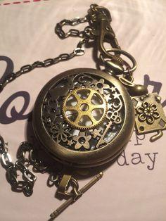 STEAMPUNK ( Alice's Garden) Pocket Watch on Etsy, £20.99