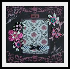 Scrapbook page...I love pink and black