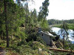 Veera-myrsky teki tällaista jälkeä Kotalan kylässä Virroilla.