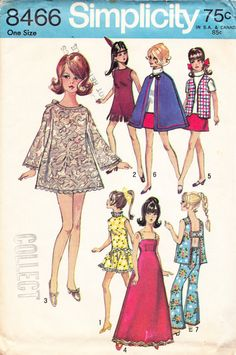 Barbie Doll Clothes Pattern Vintage