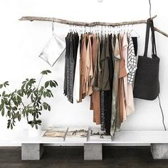 can this be my closet? | hanging clothes, no closet, home inspiration, house, living space, room, scandinavian, nordic, inviting, style, comfy, minimalist, minimalism, minimal, simplistic, simple, modern, contemporary, classic, classy, chic, girly, fun, clean aesthetic, bright, white, pursue pretty, style, neutral color palette, inspiration, inspirational, diy ideas, fresh, stylish, 2018, sophisticated