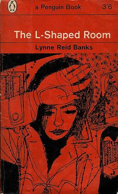 1962 Penguin cover drawing by Terence Greer for The L Shaped Room by Lynne Reid Banks (vintage art, illustration, illustrator)
