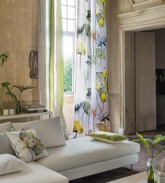 Interior Design Trend, Painterly Florals | Nymphaea Fabric by Designers Guild | Jane Clayton