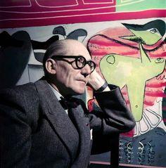 Rare image of Le Corbusier, in colour
