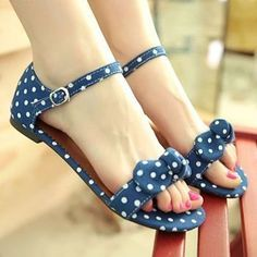 Tendance Chaussures  free shipping new 2014 arrive polka dot canvas flat sandals for women summer sho  Tendance & idée Chaussures Femme 2016/2017 Description free shipping new 2014 arrive polka dot canvas flat sandals for women summer shoes woman casual ladies her shoes black blue red