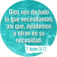 1 Juan 3:17 Pero el que tiene bienes de este mundo y ve a su hermano tener necesidad, y cierra contra él su corazón, ¿Cómo mora el amor de Dios en él?♔