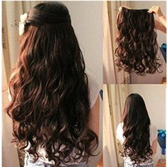 EVTECH(TM) Synthetic Big Hair Bun Ponytail Extension Chignon Hair Piece Wig Brown >>> Check out this great image @