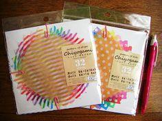東海道の文具のブログ: 100円ショップのchiyogamiトレーシング折り紙でミニ封筒