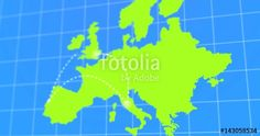 "Download the royalty-free video "" #Animated #Travel and #Business #Trip #Infographic on Green #Europe Earth #Map #4k #Rendered #Video "" created by artislife at the best price ever on Fotolia.com. Browse our cheap image bank online to find the perfect #stock video clip for your marketing projects!"