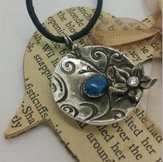 Lapis Lazuli Pendnat / Fine Silver 999 / PMC / PMC3 / Precious