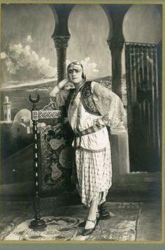 Max, Alger, portrait de femme Vintage silver print Tirage argentique d'ép