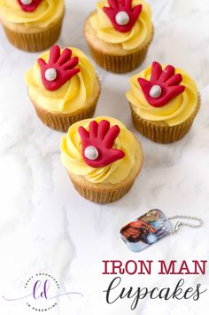 If you have a super hero lover in your family, be sure to make them these adorable Iron Man Cupcakes! You need super hero cupcakes in your life! Iron Man Cupcakes, Cupcakes For Men, Fun Cupcakes, Cupcake Cakes, Birthday Cakes For Men, Superhero Birthday Party, Birthday Cupcakes, Men Birthday, Birthday Gifts