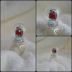 OOAK Ring Perfect Present Snow globe glass ring by ErlingeJewelry, €20.00