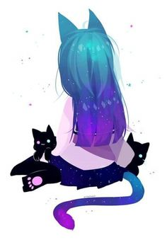 Space and cats; two of my favorite things in one! Love this pic! <3