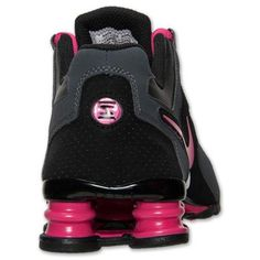 fa3a2fc3ca Nike Shox Current Black Anthracite Pink Grey Womens Running Shoes 5.5 US