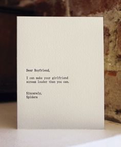 Dear Boyfriend.