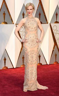 Nicole Kidman from Oscars 2017 Red Carpet Arrivals  In Armani Privé