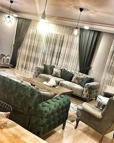 Salon Dekorasyonu için Son Moda Chester Koltuklar – Dekoloji – Ev Dekorasyon Fi… - See Tutorial and Ideas Open Living Room Design, Luxury Living Room, Living Room Decor Apartment, Bedroom Interior, Home, Interior Design Living Room, Hall Decor, Living Room Seating, Sofa Set