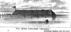 """The Confederate ironclad ship """"Georgia"""""""