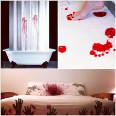 1000 images about diy horror on pinterest scary for Psycho shower curtain and bath mat