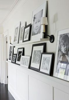 Talk of the House: Gallery wall shelves