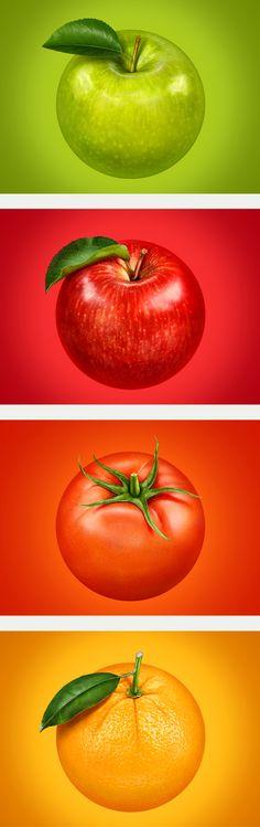 Fruits, Иллюстрация © АлексейВолков