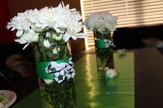 cute soccer theme but still femenine. Flowers from costco.ribbon from walmart and vase from the dollar store. Baby Boy Soccer, Soccer Baby Showers, Sports Baby, Star Baby Showers, Soccer Theme, Boy Shower, Costco, Future Baby, Little Babies
