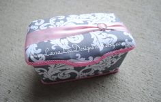 Gray and White Scroll Damask with Pink by LauraLeeDesigns108, $17.99