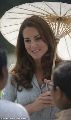 The Duchess chats to local dignitaries