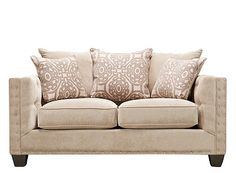 Cindy Crawford Calista Microfiber Loveseat