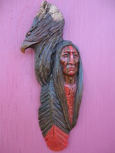 Native American Indian Wood Carving    Gordon Raistrick