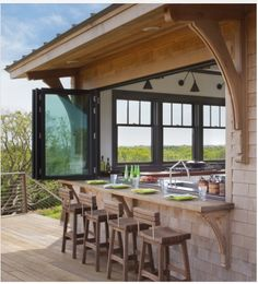 Indeed, people build pool house add beauty value to the owner's property. Find out most popular Pool House Ideas around the net here! Future House, Outdoor Seating Areas, Outdoor Spaces, Bar Seating, Backyard Seating, Outdoor Patios, Garden Seating, Style At Home, Haus Am See