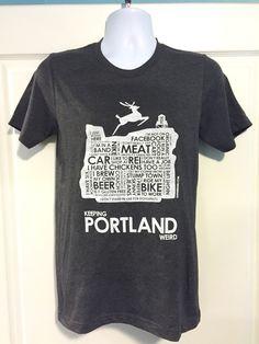 Keeping Portland Weird Tshirt Beer Bike, Portland City, Tee Shirts, Tees, Weird, Trending Outfits, Shirt Ideas, Oregon, Mens Tops