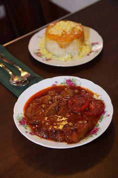 Iranian Stew (khoresht Geymeh) & Rice, Iranian style