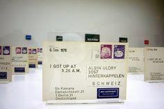 "#ART   On Kawara   ""I Got Up"" (1976) to Albin Uldry"