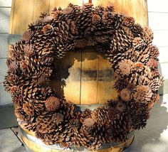 Pine Cone Wreath by TaylordEventsSV on Etsy, $75.00