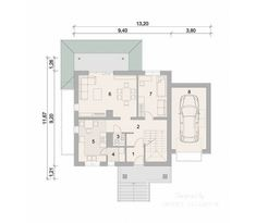 Projekt domu LK&470 Floor Plans, How To Plan, Home, Ad Home, Homes, Haus, Floor Plan Drawing, House Floor Plans, Houses